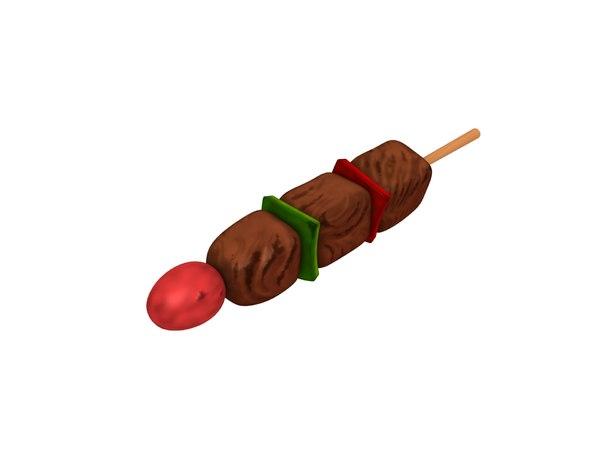 bbq skewer 3D model