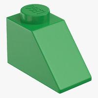 lego brick 2x1 slope 3D model