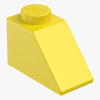 lego brick 2x1 slope model