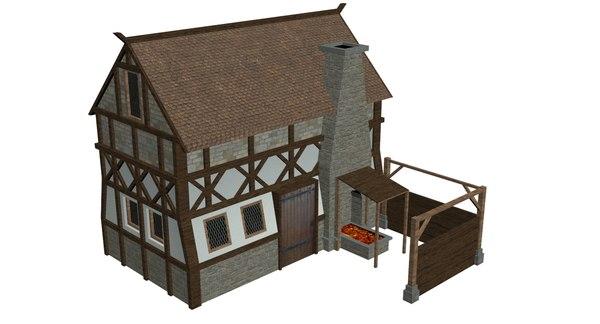 medieval smithy model