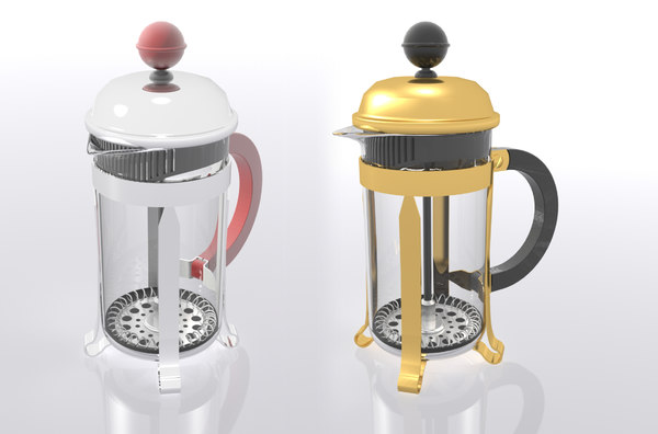 bodum french press 3D