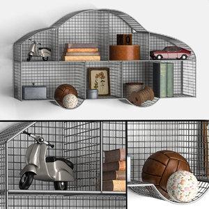 3D shelf car zinc