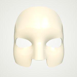 stl mask 3D model