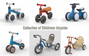 childrens bicycles 3D