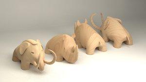 3D animal figurines model