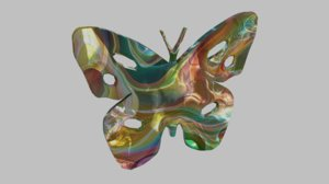 3D butterfly silhouette