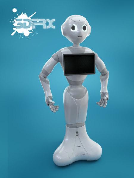 pepper robot 3D model
