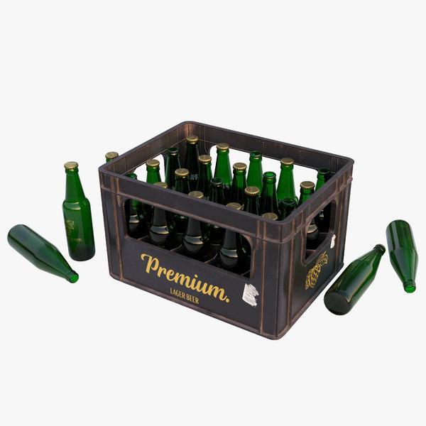 3D plastic beer crate model