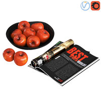 3D decorative red apples