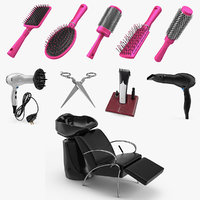 3D hair beauty salon equipment model