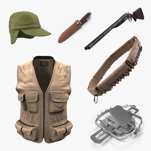 hunting equipment 2 3D model