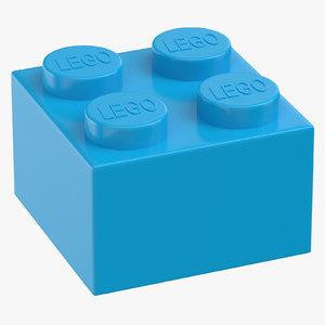 lego brick 2x2 dark 3D