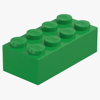lego brick 2x4 earth model