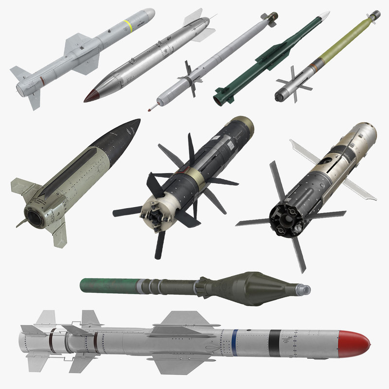 3D millitary missiles rockets model