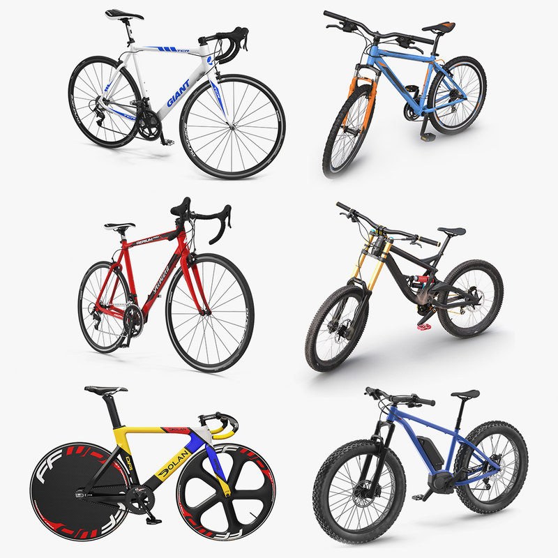 3D rigged bicycles 4 cycle
