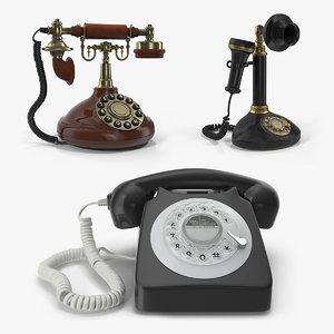 3D model rotary phones 2