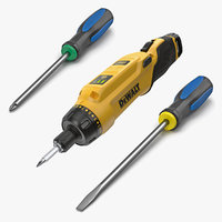 screwdrivers screws 3D