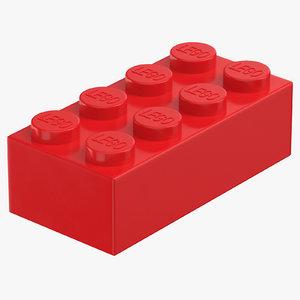 lego brick 2x4 bright 3D