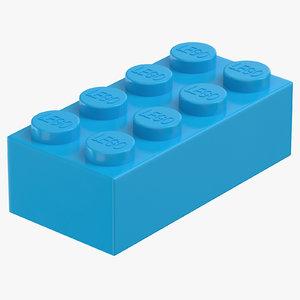 lego brick 2x4 dark 3D model