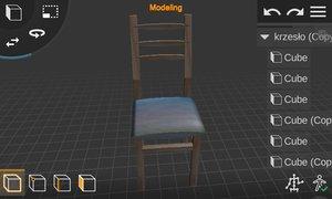 krzeso drewniane model