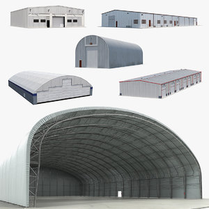 warehouse hangars 2 model