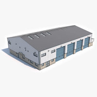 ready industrial building 16 3D