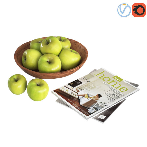 decorative green apples 3D model