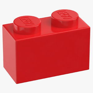 lego brick 1x2 bright 3D model