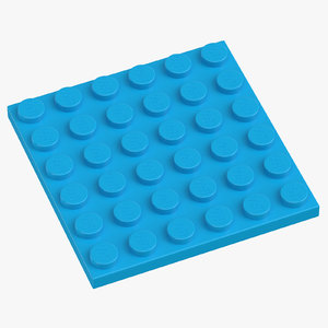 3D lego plate 6x6 dark