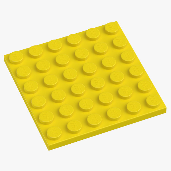 3D lego plate 6x6 flame