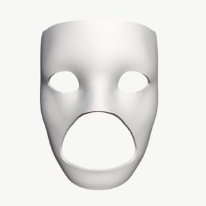 stl mask 3D