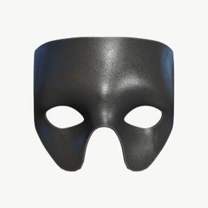 stl black mask 3D model