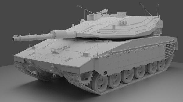 merkava mark iv battle tank 3D model
