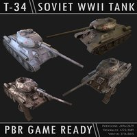 t-34 soviet tank 3D model