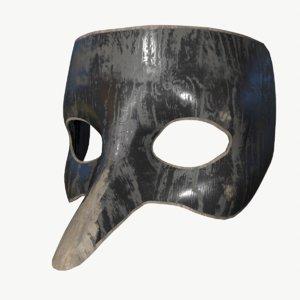 stl wood mask 3D model
