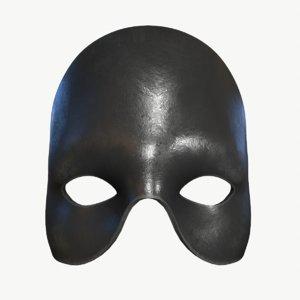 3D stl black mask model