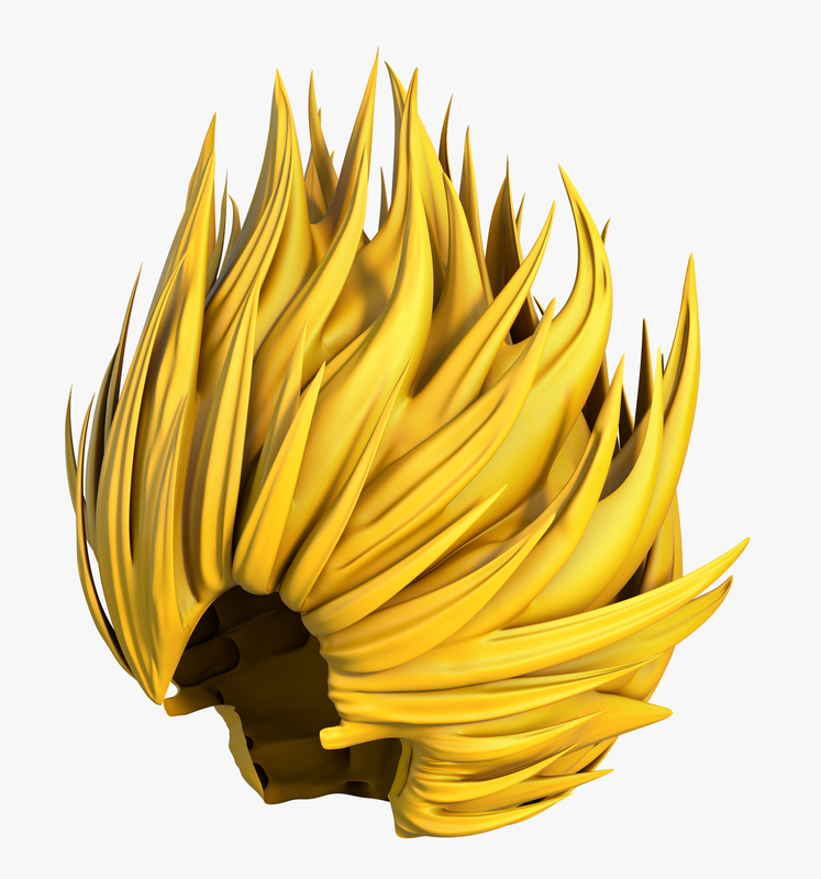 3D wig super saiyan