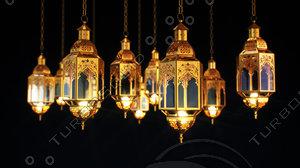 3D lantern ramadan islam