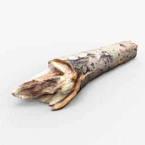 3D driftwood wood
