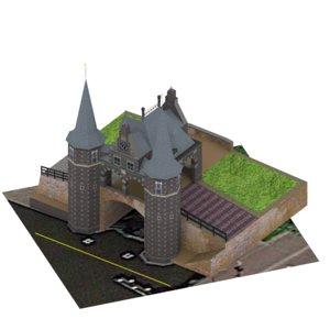 3D architecture monument building