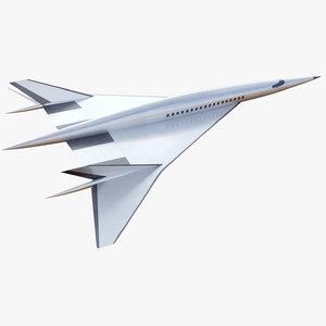 concept boeing hypersonic plane 3D model