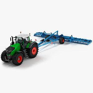fendt 1050 vario tractor 3D model