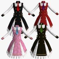 lolita dress 3D model
