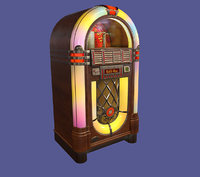 Vintage Classic Wooden Rockola- Jukebox