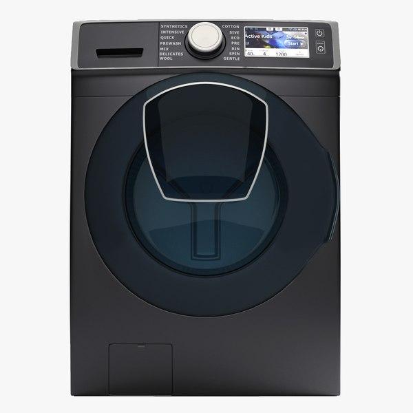 3D samsung washing machine wf7500 model