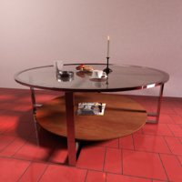 3D model table glass realistic