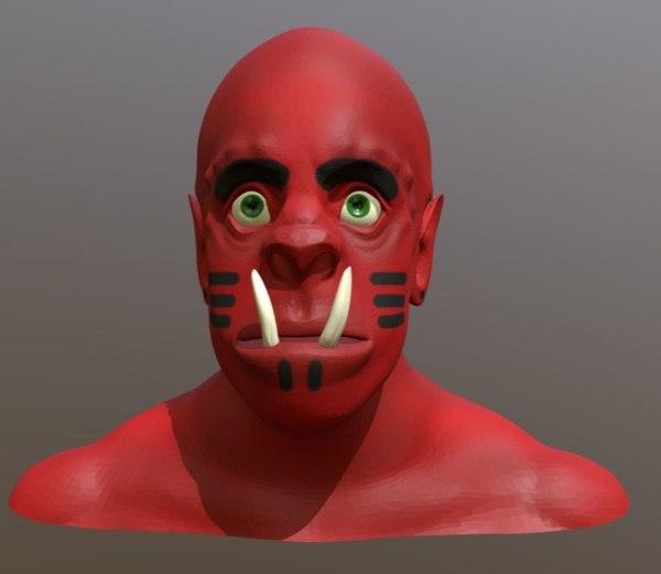 3D orc head model