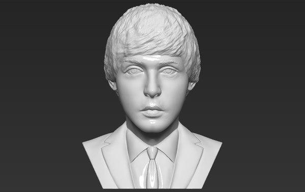 paul mccartney bust ready 3D model
