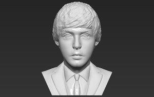 paul mccartney bust ready 3D model