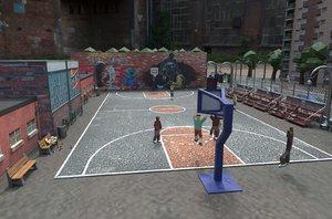 3D basketball playground urban